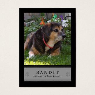 Dog Memorial Photo Card - Black with Poem