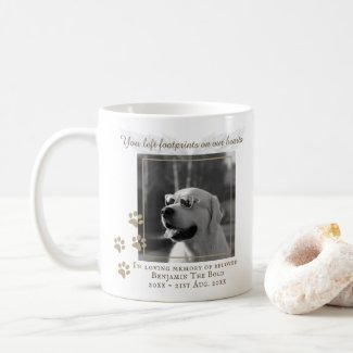 Dog Memorial PHOTO Keepsake Gift - Add Text Coffee Mug