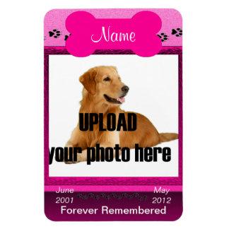 Dog Memorial (pink) Forever Remembered Magnet