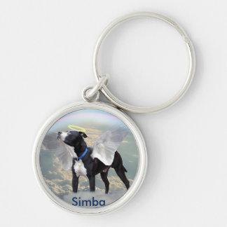 "Dog Memorial Small (1.44"") Premium Round Keychain"