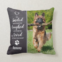 Dog Memorial Sympathy Keepsake Pet Loss Photo Throw Pillow