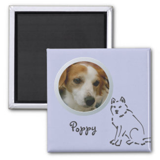 Dog Memory Add a Photo 2 Inch Square Magnet
