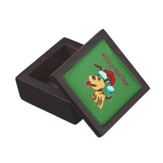 Dog Merry Christmas Box Premium Gift Box