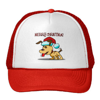 Dog Merry Christmas Cap Hats