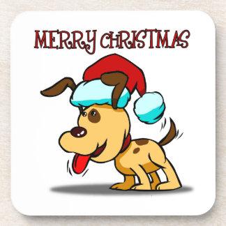 Dog Merry Christmas Coaster