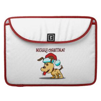 Dog Merry Christmas MacBook Pro Sleeves