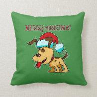 Dog Merry Christmas Pillow