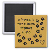 dog message fridge art magnet