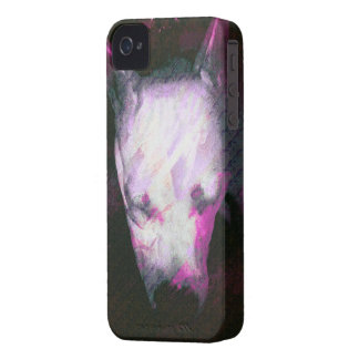 Dog minded Love-Rescue dog Pitbull puppy iPhone 4 Cover