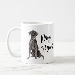 Dog Mom Brushed Lettering Black Lab Coffee Mug