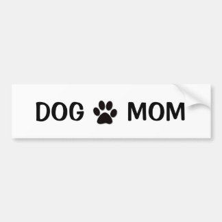 Dog Mom Bumper Sticker