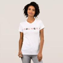 """""""Dog Mom"""", cute paw prints T-Shirt"""
