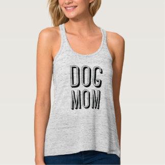 Dog Mom Flowy Racerback Tank Top