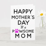 Dog Mom From the Dog Mother's Day Card