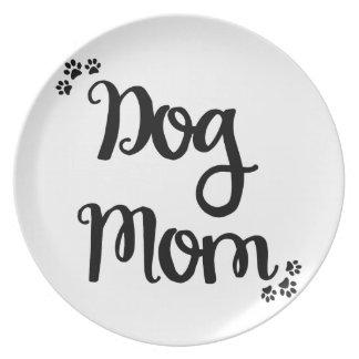 Dog Mom Melamine Plate