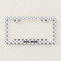 GREAT DANE PAW PRINT DOG License Plate Frame