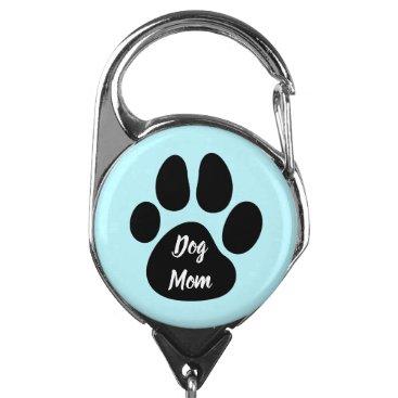 Dog Mom Pet Dog Animal Paw Badge Holder
