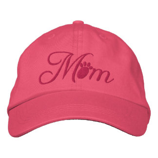Dog Mom (Pink) Embroidered Baseball Cap