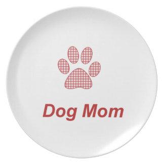 Dog Mom Plate