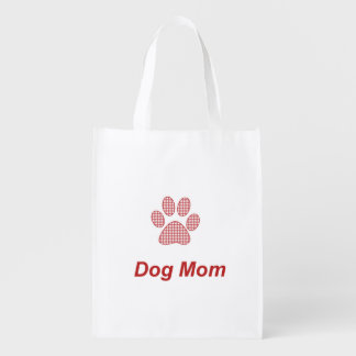 Dog Mom Reusable Grocery Bag