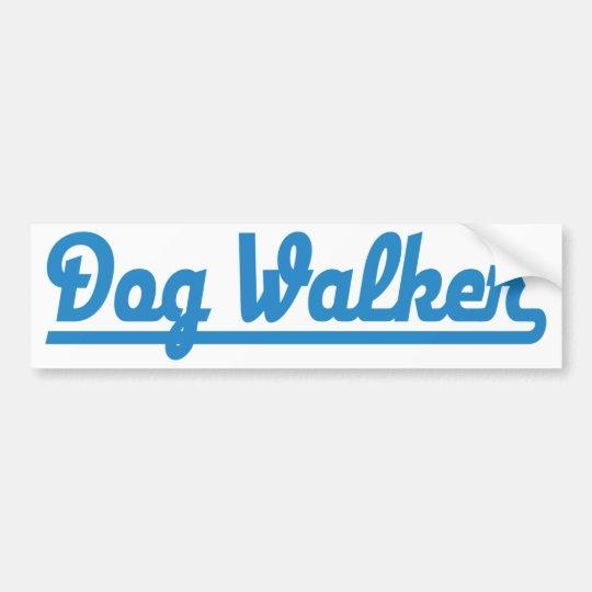 dog more walker bumper sticker