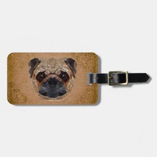Dog Mosaic Luggage Tag
