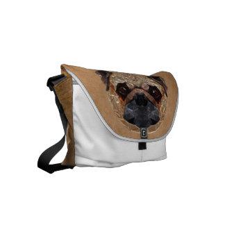 Dog Mosaic Small Messenger Bag