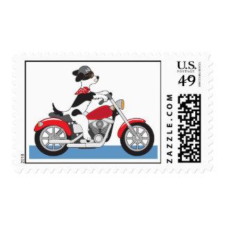Dog Motorcycle Stamp