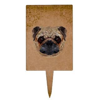 Dog Mozaic Cake Topper