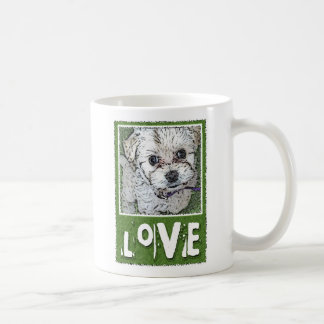 DOG: Multi-Poo Puppy Love Kooky Eyes Coffee Mug