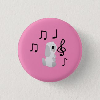 Dog Musicals Button