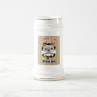 Dog N Bone Beer Stein Logo in Center