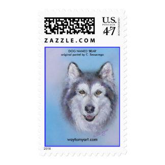 DOG NAMED 'BEAR' by C. Sessarego Postage