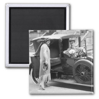 Dog Nanny and Chauffeur 1920s Magnet