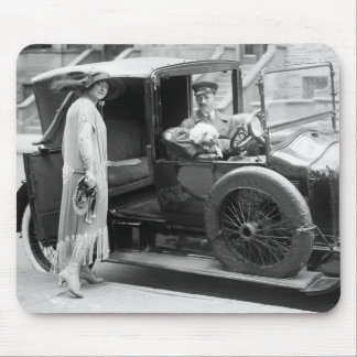 Dog Nanny and Chauffeur, 1920s Mouse Pad