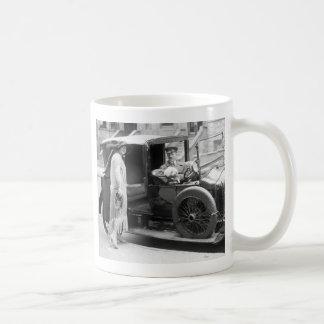 Dog Nanny and Chauffeur, 1920s Coffee Mug