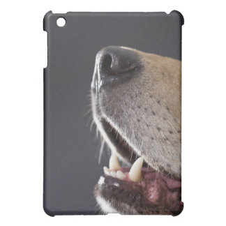 Dog nose and mouth, close-up iPad mini case