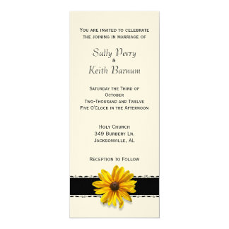 Dog Nosed Flower 4x9.25 Paper Invitation Card