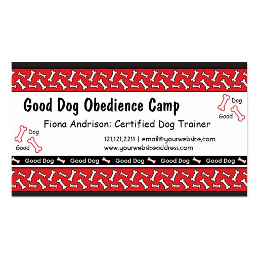 Dog training business card templates page3 bizcardstudio dog obedience classes dog trainer business cards colourmoves