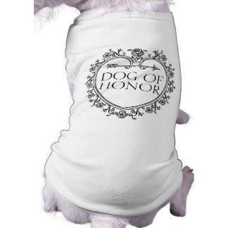 Dog of Honor classy funny dog puppy wedding shirt
