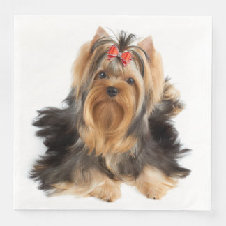 Dog of show class paper dinner napkin