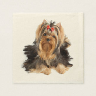 Dog of show class paper napkin