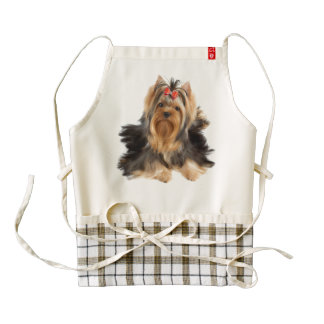 Dog of show class zazzle HEART apron