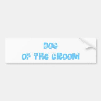 Dog of the Groom Bumper Sticker