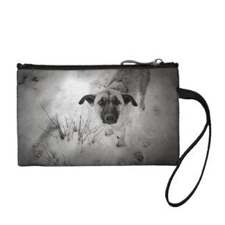 Dog old photo coin purse