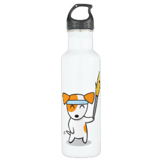 Dog Olympic Torch Relay Stainless Steel Water Bottle