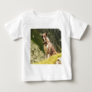 Dog On A Hill Baby T-Shirt
