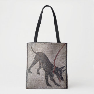 Dog on a leash, from Pompeii Tote Bag