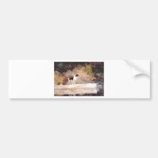Dog on a log by Winslow Homer Bumper Sticker