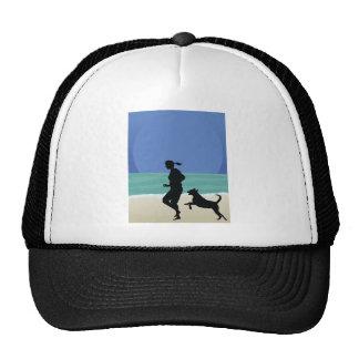 Dog on Beach Trucker Hat